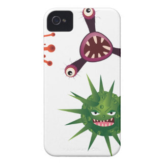 Cartoon Viruses Case-Mate iPhone 4 Case