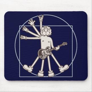 Cartoon Vitruvian Rocker Mouse Pad