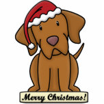 Cartoon Vizsla Christmas Ornament Photo Sculptures