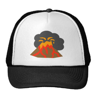 Cartoon Volcano Erupting Lava and Smoking Trucker Hat
