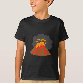Cartoon Volcano Erupting Lava and Smoking T-Shirt