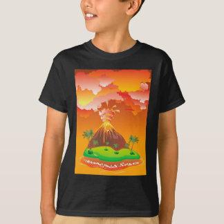 Cartoon Volcano Eruption 2 T-Shirt