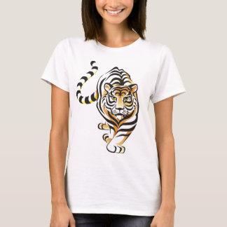 Cartoon Walking Tiger Women's T-shirt