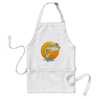 Cartoon Walleye Adult Apron