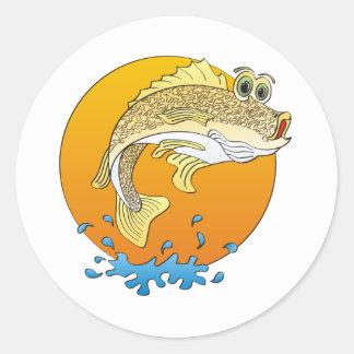 Cartoon Walleye Sticker