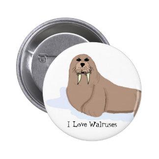 Cartoon Walrus Button