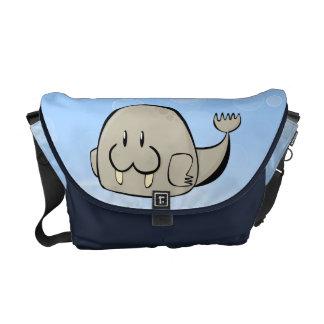 Cartoon Walrus Courier Bag