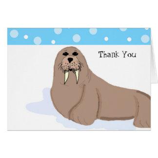 Cartoon Walrus Thank You Card