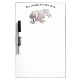 Cartoon walrus, you remind me of a man Dry-Erase board