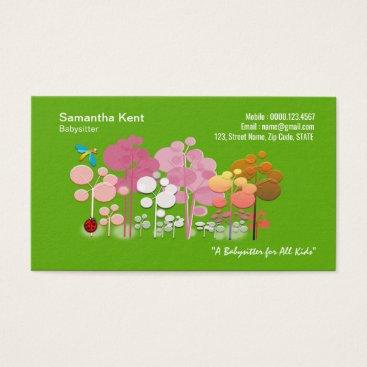 Cartoon Warm Cute Flowers Delight Business Card