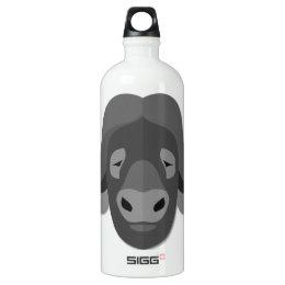 Cartoon Water Buffalo Aluminum Water Bottle