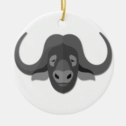 Cartoon Water Buffalo Ceramic Ornament