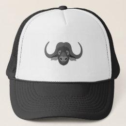 Cartoon Water Buffalo Trucker Hat