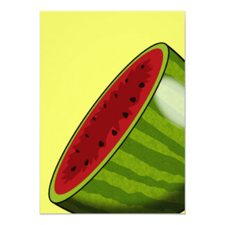 Cartoon Watermelon half Invitation
