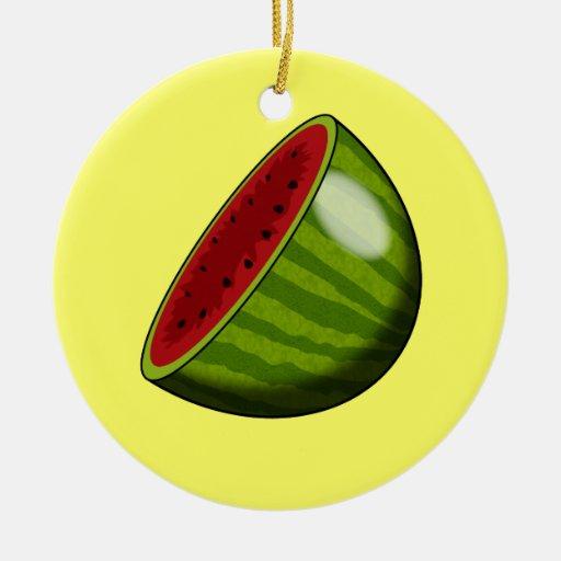 Cartoon Watermelon half Ornament