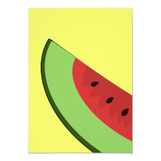 Cartoon Watermelon Slice Invitation