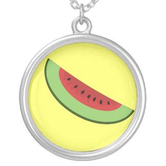 Cartoon Watermelon Slice Necklace