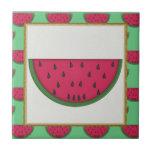"Cartoon Watermelon tile<br><div class=""desc"">design by www.resaleclipart.com</div>"