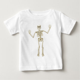 Cartoon Waving Skeleton Character T-shirts