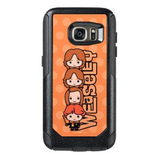 Cartoon Weasley Siblilings Graphic OtterBox Samsung Galaxy S7 Case