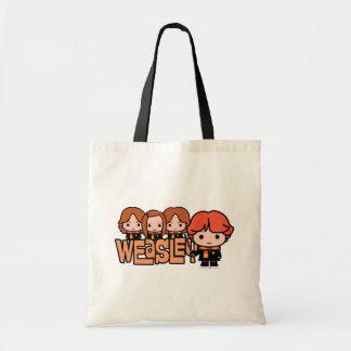 Cartoon Weasley Siblilings Graphic Tote Bag