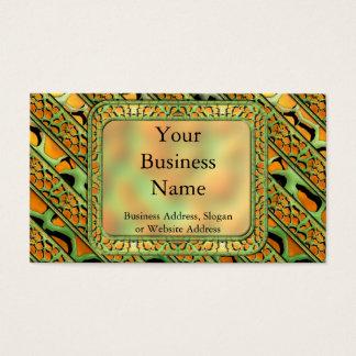 Cartoon Webby Stripes Business Card