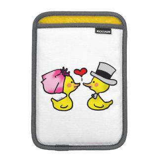 cartoon wedding ducks couple sleeve for iPad mini