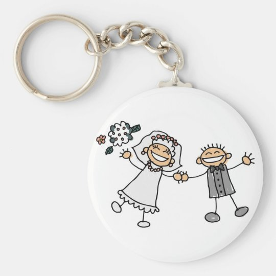 Cartoon Wedding Keychain