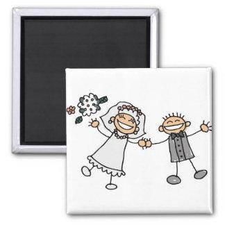 Cartoon Wedding Fridge Magnets