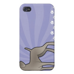 Case Savvy iPhone 4 Matte Finish Case with Weimaraner Phone Cases design