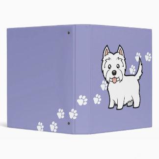 Cartoon West Highland White Terrier Binder