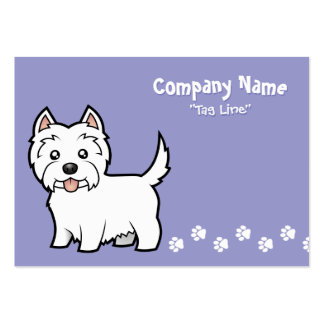 Cartoon West Highland White Terrier Business Cards