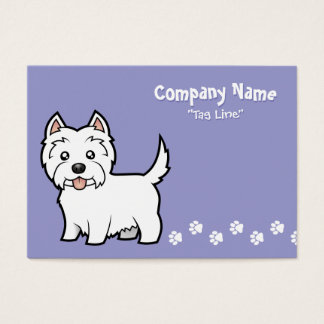 Cartoon West Highland White Terrier Business Card