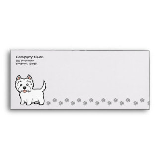 Cartoon West Highland White Terrier Envelope