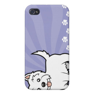 Cartoon West Highland White Terrier iPhone 4/4S Cover