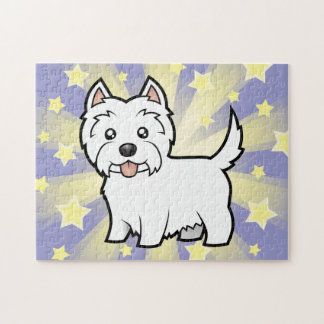 Cartoon West Highland White Terrier Jigsaw Puzzle