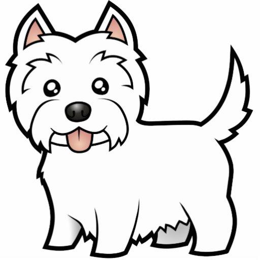 Cartoon West Highland White Terrier Photo Cutout Zazzle