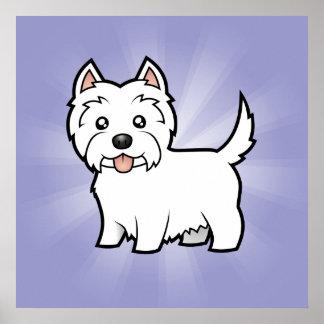 Cartoon West Highland White Terrier Print