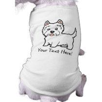 Cartoon West Highland White Terrier T-Shirt