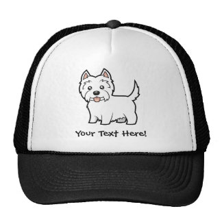 Cartoon West Highland White Terrier Trucker Hat