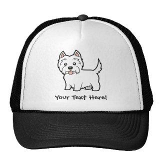 Cartoon West Highland White Terrier Trucker Hat