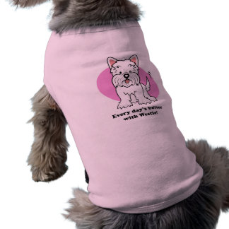 Cartoon Westie Dog Shirt
