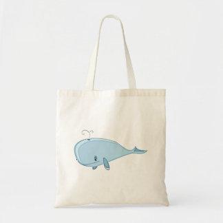 Cartoon Whale Canvas Bags