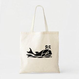 Cartoon Whale Canvas Bag