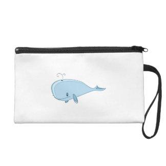 Cartoon Whale Wristlet Clutch