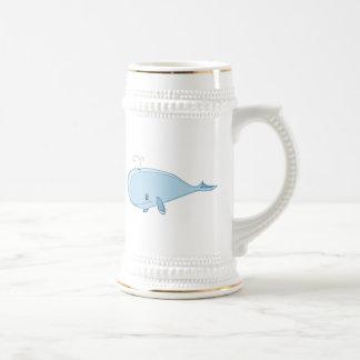 Cartoon Whale Beer Stein