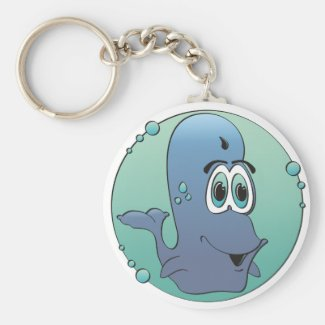 Cartoon Whale Keychain
