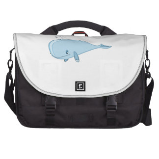 Cartoon Whale Commuter Bags