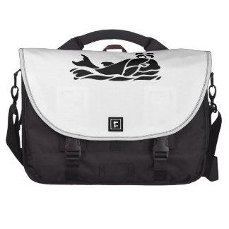 Cartoon Whale Laptop Commuter Bag