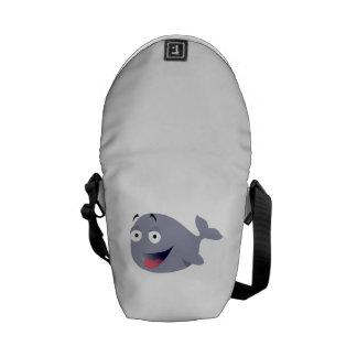 Cartoon Whale Courier Bag